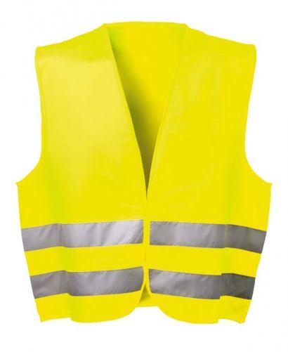 Polyester Warnschutzweste gelb