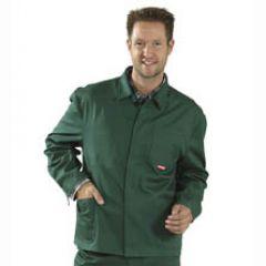 Arbeitsjacke 100 % Baumwolle grün
