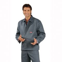 Arbeitsjacke 100 % Baumwolle grau